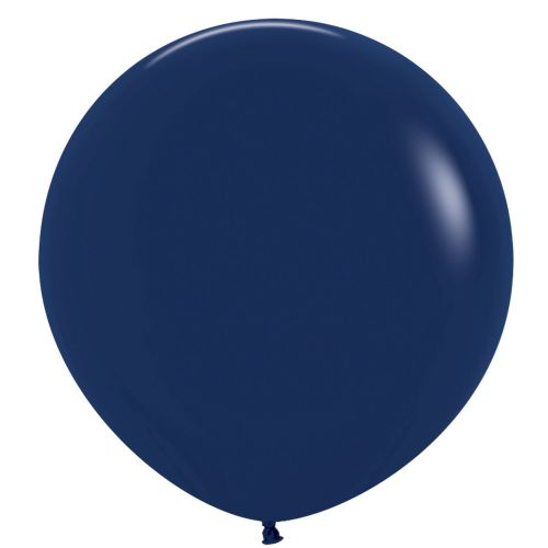 "Fashion Colour Solid Navy Blue 044 Latex Balloons 36""/91.5cm - 2 PC"